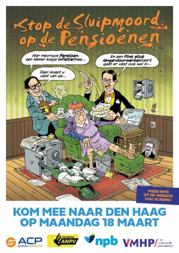Poster voor staking NPB