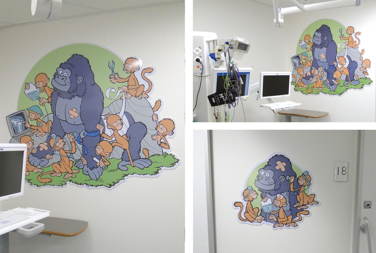 Wandillustraties voor Rijnstate ziekenhuis Arnhem
